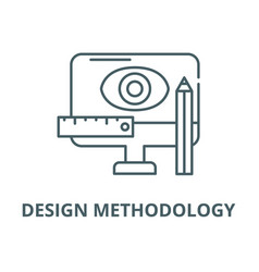 design methodology line icon linear vector image
