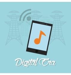 Digital era technology vector image