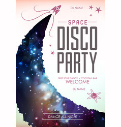 Disco pasty poster on open space background vector