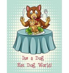 Dog eat dog idiom expression vector
