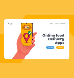fast courier service landing page template food vector image