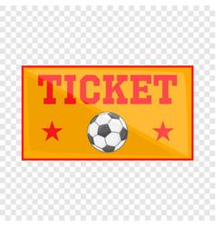 Football tickets icon cartoon style vector