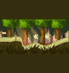 forest 2d background for game vector image