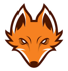 fox head sport logotype vector image