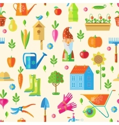 Garden Seamless Pattern vector
