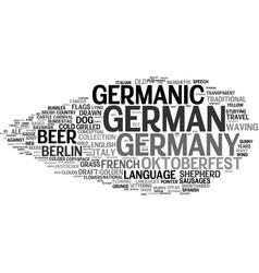 Germanic word cloud concept vector