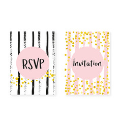 Gold glitter sequins with dots wedding and bridal vector