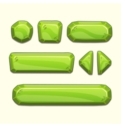 Green buttons set vector image