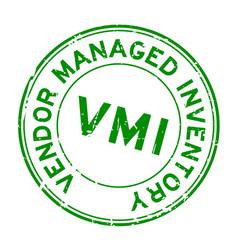 Grunge green vmi abbreviation vendor managed vector