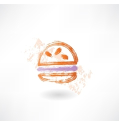 hamburger grunge icon vector image