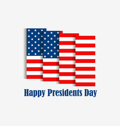happy presidents day american flag with shadow on vector image