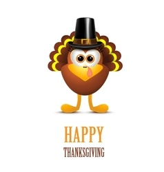 Happy Thanksgiving with the Turks in Hat vector
