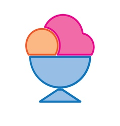 Ice cream cup colored vector