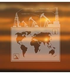 Infographics oil pump map vector