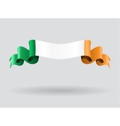 Irish wavy flag vector