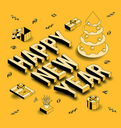 isometric greeting card vector image