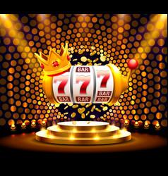 king slots 777 banner casino on golden vector image