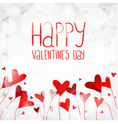 Light background with red hearts vector