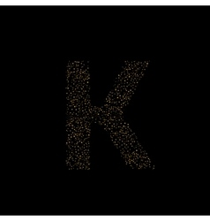 Magic K letter vector