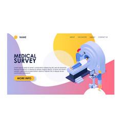 medical survey woman man patient character vector image