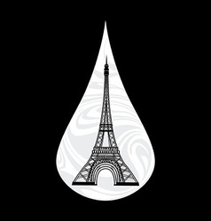 Metaphoric of France Crying tear mourning Paris on vector