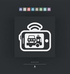 Mobile car assistance vector