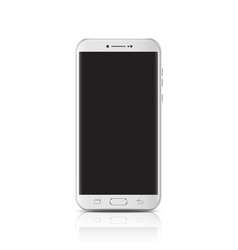 Modern realistic white smartphone smartphone with vector