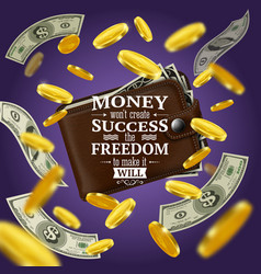 money and success quotes vector image