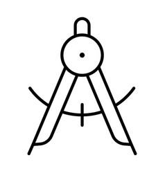 monochrome linear dividers icon vector image