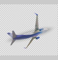 naturalistic 3d passenger plane flying vector image