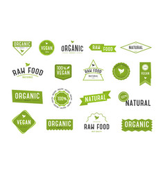 Organic labels set collection various logo vector