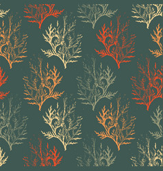 pattern with leaves on dark background vector image