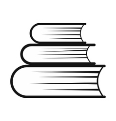 Pile of books simple icon vector image