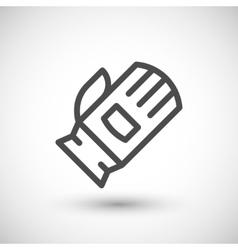 Protective glove line icon vector
