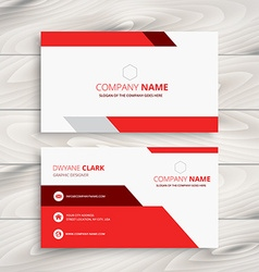 Red modern business card vector