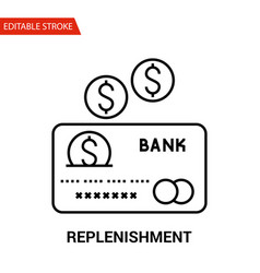 replenishment icon thin line vector image