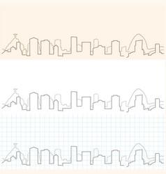 Rio de janeiro hand drawn skyline vector