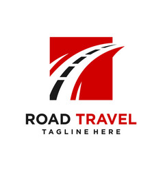 road logo design vector image