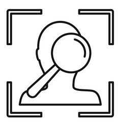 Search face scan icon outline style vector