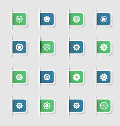 set a collection unique paper stickers icons vector image