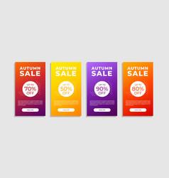Set autumn sale banner shopping discount vector