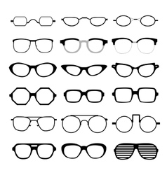 set different glasses vector image