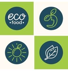 Set modern minimalistic logo and icon of vector image