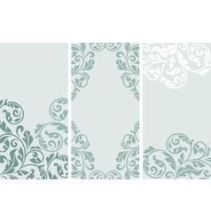 Set of vintage greeting cards vector image