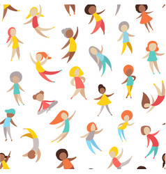 set people in motion vector image