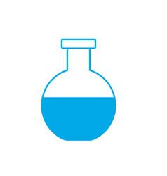 silhouette erlenmeyer flask to lab chemical design vector image vector image