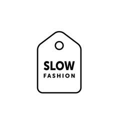 Slow fashion minimalistic label vector