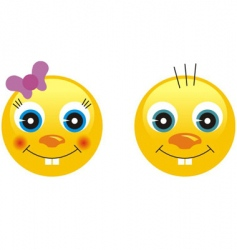 smiley emotion faces vector image