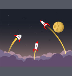 space rockets in space vector image