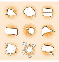 Speech bubbles on a warm vector image